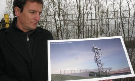 """<span class=""""entry-title-primary"""">Toller Ausblick über Alt-Kostheim und die Mainauen</span> <span class=""""entry-subtitle"""">Die Bauarbeiten zum 15 Meter hohen Aussichtsturm am alten Zellulosehafen haben begonnen</span>"""