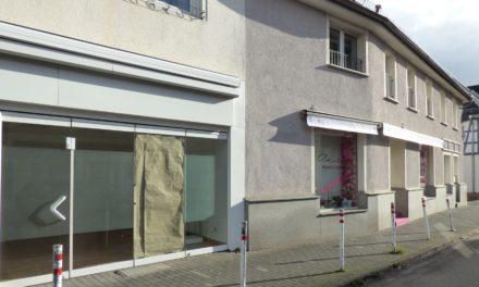 Leerstehende Geschäftsräume in der Alten Mainzer Straße