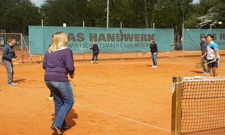 Reges Treiben beim TVH-Tennisfamilientag