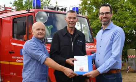 Förderbescheid als Meilenstein für neues Feuerwehrfahrzeug