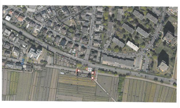 Teilsperrung in der Weinbergstraße Höhe Kleingärten