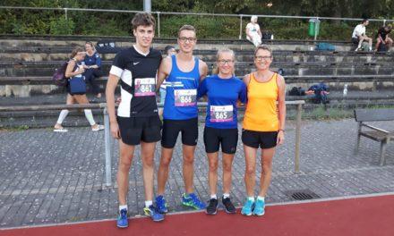 Erfolgreiche Läufer der LG Bischofsheim-Ginsheim beim Treburer Abendsportfest