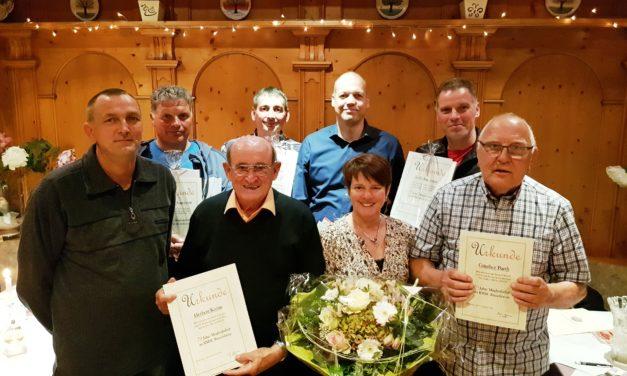 RMSC Rüsselsheim ehrt außergewöhnliche Jubilare