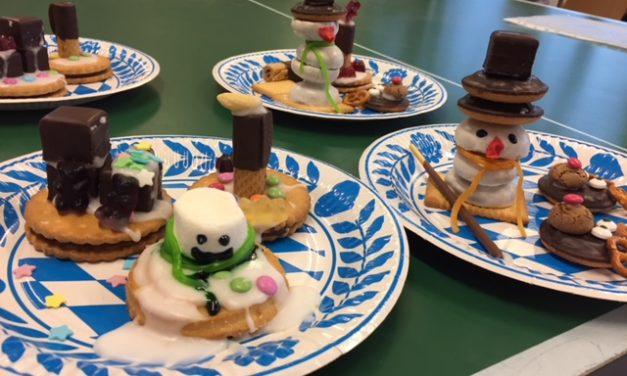 Keks-Kunstwerke aus der Weihnachtsbäckerei