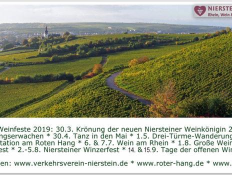 Postkarte 2019 Weinfeste Nierstein