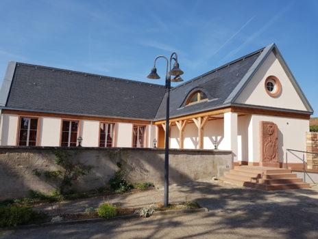 In Nierstein feiern mit einen grandiosen Panoramablick bis hin zum Odenwald