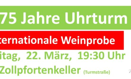 Internationale Weinprobe im Zollpfortkeller