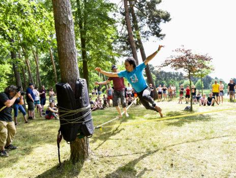 11. Rhein-Main Slackline-Festival im Rüsselsheimer Waldschwimmbad