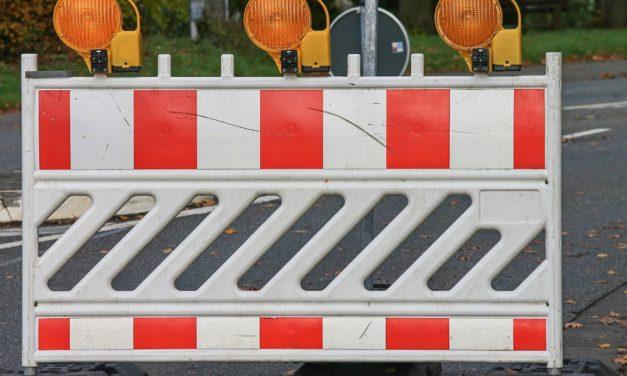 Wickerer Straße halbseitig gesperrt