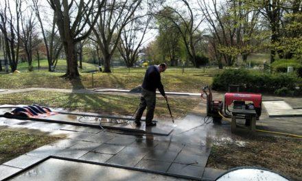 Frühjahrsputz in der Gemeinde: Überall wird gearbeitet