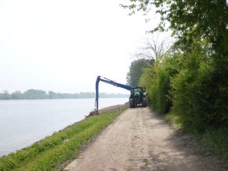 Radweg  zwischen Laubenheim und Bodenheim wird umgeleitet!