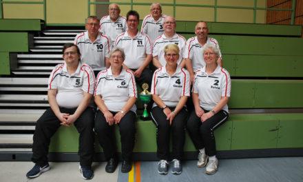 Bosselgruppe des TV 1883 Bischofsheim auf Freundschaftsturnier in Weilburg