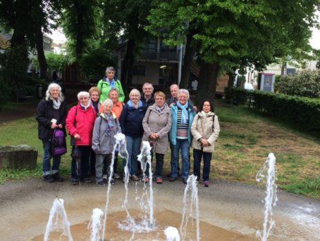 Im Regen unterwegs nach Flörsheim