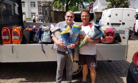 Schulranzen und Schultüte von der Bonifatius Gemeinde Wiesbaden
