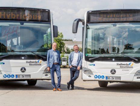 In Rüsselsheim fahren jetzt zwei Hybridbusse