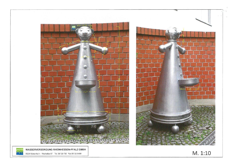 Trinkwasserbrunnen im Park der Stadt Nierstein