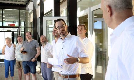 Sporthalle und Mensa der Max-Planck-Schule sind Beispiele gelungener Architektur