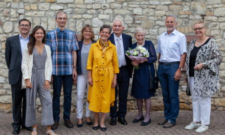 Ehepaar Wilhelm und Hedwig Schwarz feiert Diamanthochzeit