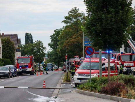 Einsatzübung der Feuerwehren der Stadt Flörsheim am Main im Graf-Stauffenberg-Gymnasium