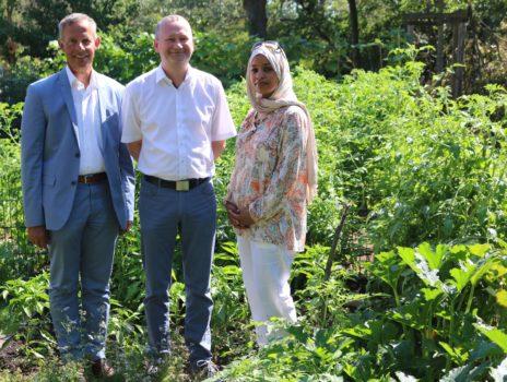 Kleiner Gemüseanbau erinnert an die Heimat