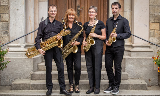 Saxophonquartett gestaltet Abendlob