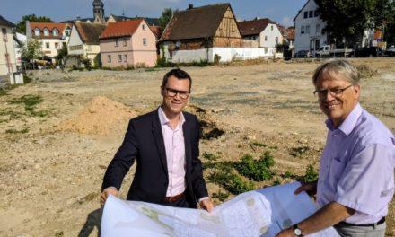 Neue Stadtbücherei: Die Bauarbeiten beginnen
