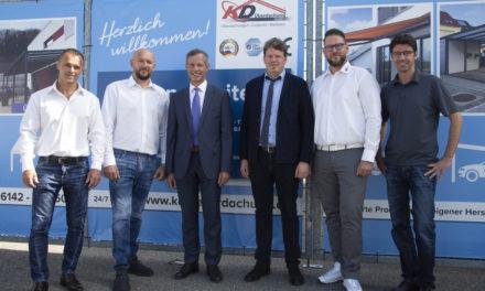 "<span class=""entry-title-primary"">Ausbau des Unternehmensstandorts</span> <span class=""entry-subtitle"">Oberbürgermeister besucht KD Überdachung GmbH</span>"