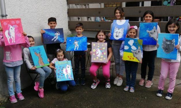 Junge Künstler bei den Farbenfüchsen