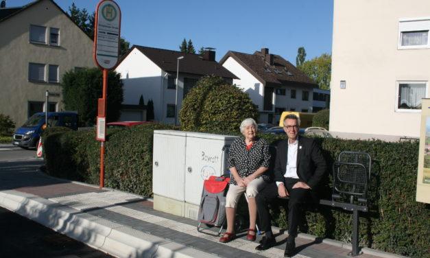 """<span class=""""entry-title-primary"""">Barrierefreier Um- und Ausbau der Bushaltestellen</span> <span class=""""entry-subtitle"""">Neue Klappbänke sorgten für mehr Komfort für die Wartenden</span>"""