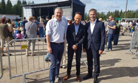Rüsselsheim und Varkaus feierten Jubiläum der Städtepartnerschaft