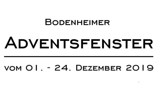 """<span class=""""entry-title-primary"""">Bodenheimer Adventsfenster schon im 3. Jahr</span> <span class=""""entry-subtitle"""">24 Termine stimmen auf Weihnachten ein</span>"""