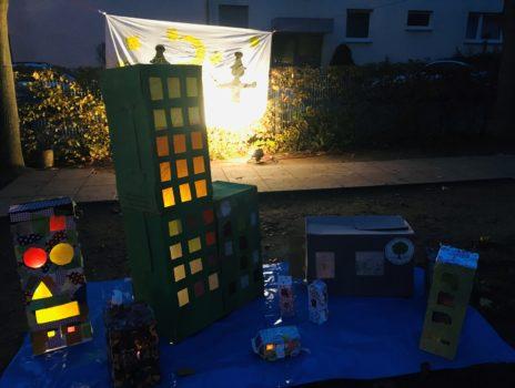 Lichterfest mit Laternenumzug der Kindertagesstätte Am Apfelbaum