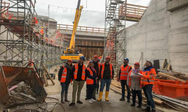 Bahnunterführung: Magistrat informiert sich über Baufortschritt