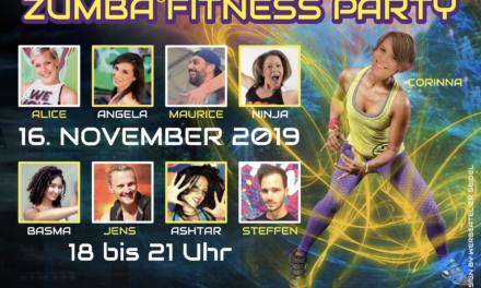 Turnverein lädt zur vierten Zumba ® fitness Party am 16. November in die Goldbornhalle ein