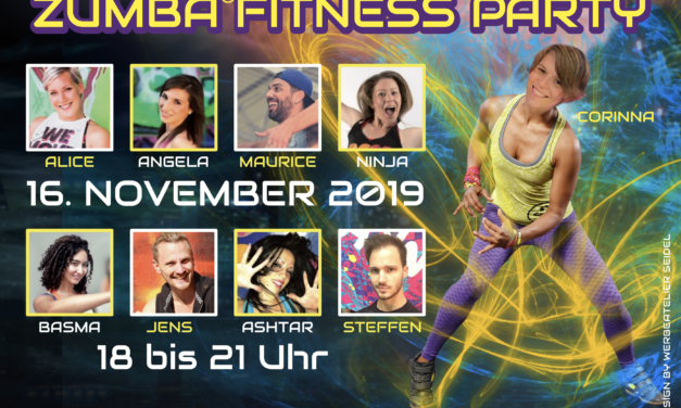 Turnverein lädt zur vierten Zumba ® fitness Party am 16. November in die Goldbornhalle ein