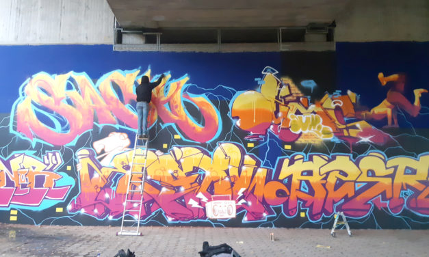 Legale Graffitis in Rüsselsheim
