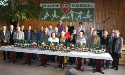 TSG 46 Kastel ehrt verdienstvolle Jubilare