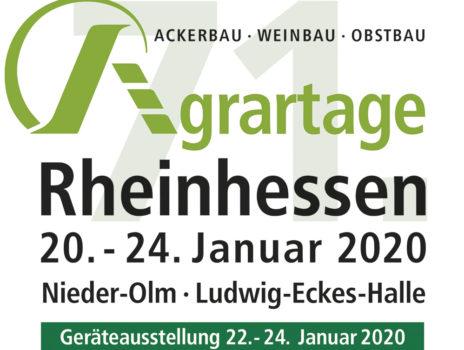 Die 71. Agrartage Rheinhessen 2020