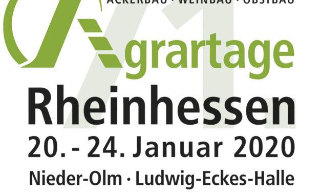 "<span class=""entry-title-primary"">Die 71. Agrartage Rheinhessen 2020</span> <span class=""entry-subtitle"">vom 20. bis zum 24. Januar 2020 in Nieder-Olm</span>"