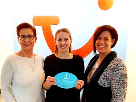 """TUI ReiseCenter Oppenheim in den """"Club der Besten"""" erhoben"""
