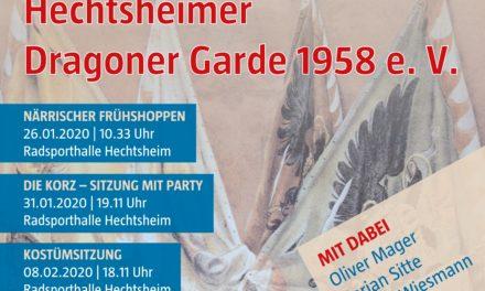 """<span class=""""entry-title-primary"""">Gut gerüstet für die Kampagne 2020</span> <span class=""""entry-subtitle"""">Veranstaltungen der Hechtsheimer Dragoner Garde 1958</span>"""