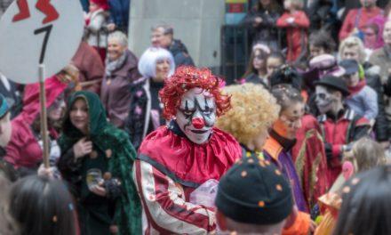 Fastnachtsumzüge und Maskentreiben in der Flörsheimer Innenstadt