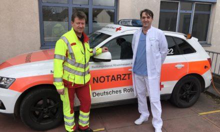 Notärzte des GPR übernehmen einmal in der Woche den Dienst auf dem Notarzteinsatzfahrzeug des DRK Ingelheim
