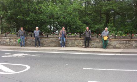 Erwin-Zeitz-Brücke in Gemeinschaftsaktion neu bepflanzt