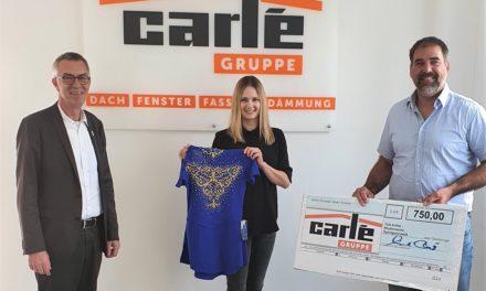 Carlé + Fatum spendete 750 Euro für neue Gymnastikanzüge