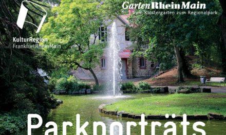 Rüsselsheimer Verna-Park auf dem Titel des neuen Garten- und Parkführers von GartenRheinMain