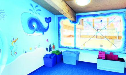 Frisch gestrichene KiTa Räume