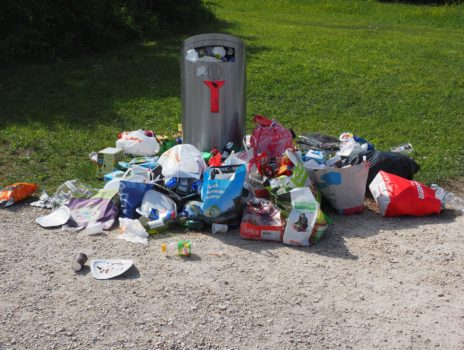 Wieder mehr Müll im Freizeitpark