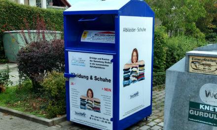 Stadtwerke organisieren Altkleidercontainer