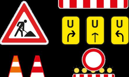 Wartung an der Bushaltestelle Brückenkopf Kastel